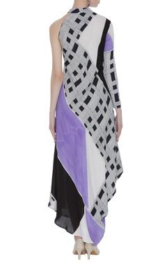 Block printed maxi dress