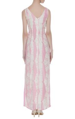 Abstract block printed maxi dress