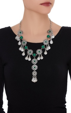 Necklace encrusted with stones