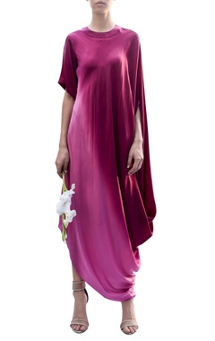 Draped ombre dress