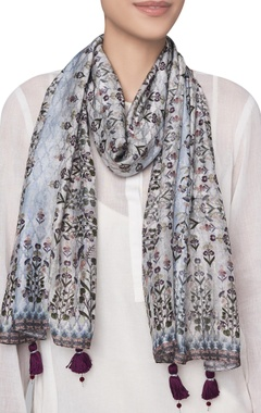 Modal silk digital printed scarf