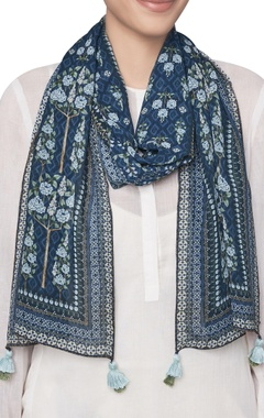 Ranthambore forest inspired printed tassel scarf