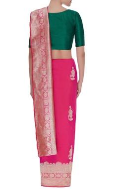Perfume bottle woven motif mulberry silk sari