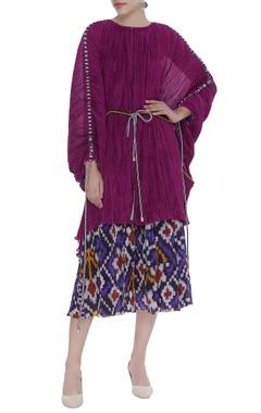 Raas-dance inspired kaftan with skirt