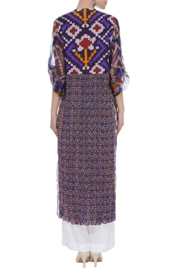 Printed multicolored kurta with pants