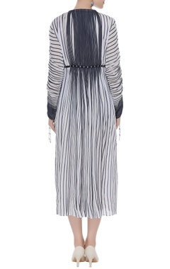 Monochrome micropleated dress