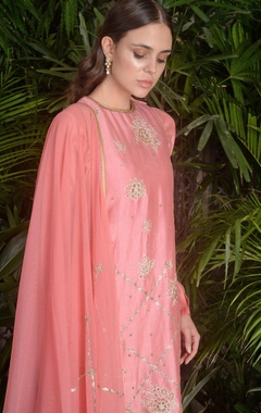 Dori embroidered straight fit kurta with trouser & pants