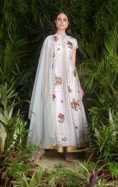 Sahil Kochhar Floral motif embroidered anarkali kurta set