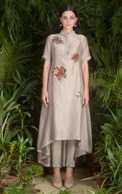 Sahil Kochhar Asymmetric embroidered kurta with pants