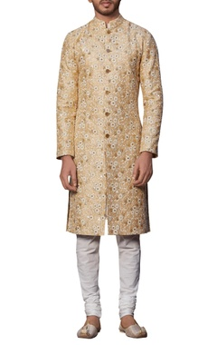 Siddhartha Tytler - Men Embroidered sherwani with kurta & churidar