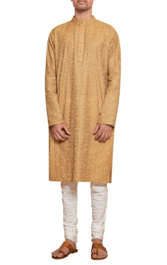 Siddhartha Tytler - Men Cotton threadwork kurta & churidar