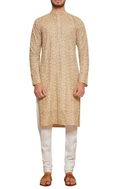 Siddhartha Tytler - Men Embroidered kurta with churidar