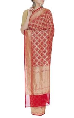 Handwoven banarasi sari with unstitched blouse