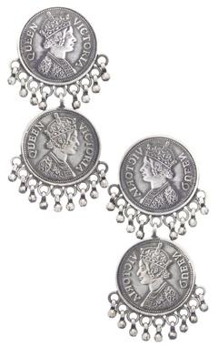 Motifs by Surabhi Didwania Coin drop earrings
