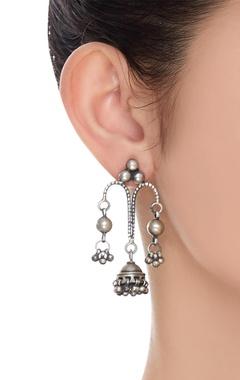Drop jhumka earrings
