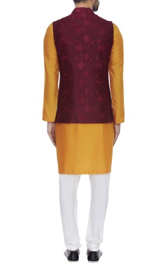 Threadwork embroidered nehru jacket