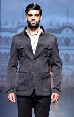 Tweed two button jacket