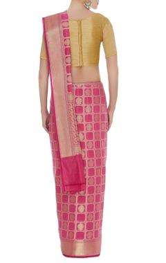 Banarasi saree with unstitched blouse