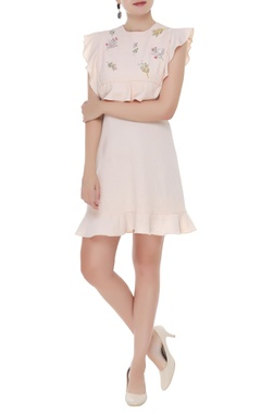 Frill detail short dress