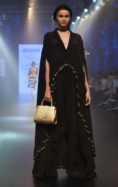 Arpita Mehta Ruffled cape kurta with pants