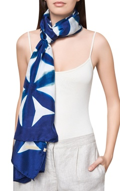 Pure silk handcrafted dyed scarf