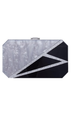 House Of Bio Marble textured clutch