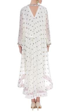Embroidered kurta with dhoti pants