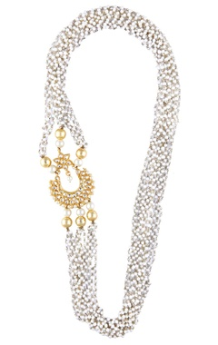 Shilpa Purii Pearl necklace with kundan pendant