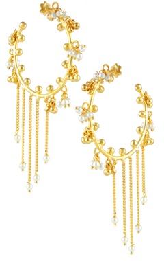 Shilpa Purii Pearl drop earrings