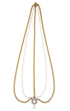 Shilpa Purii Pearl & crystal maangtikka