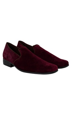 Suede lining velvet loafers