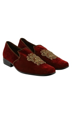 Veruschka Velvet zari embroidered loafers
