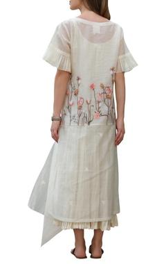 Handwoven chikankari dress with inner