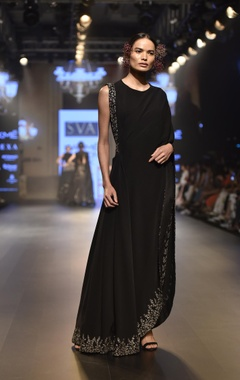 SVA - Sonam and Paras Modi Embellished drape with pants & bustier