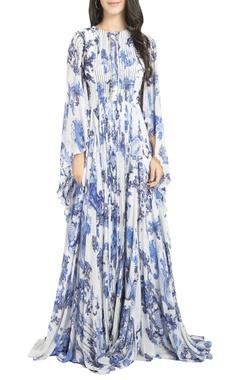Floor length printed gown