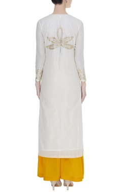 Cotton kurta with embroidered dupatta & palazzo
