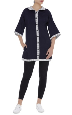 Checkered reversible tunic