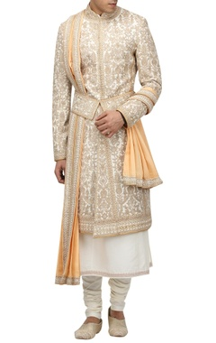 Tarun Tahiliani - Men Matka silk sherwani set