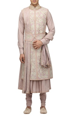 Tarun Tahiliani - Men Hand embroidered gota sherwani set