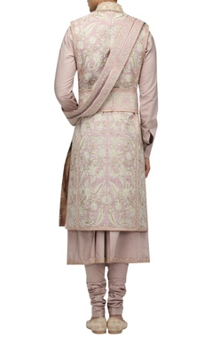 Hand embroidered gota sherwani set