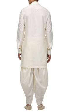 Matka silk kurta with dhoti