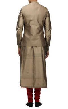 Metallic dupion silk nehru jacket