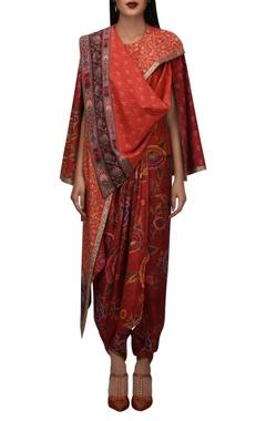 TARUN TAHILIANI Khadi asymmetric cape