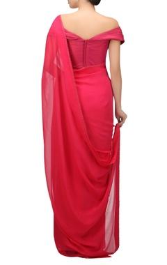 Chiffon sari with swarovski diamonds