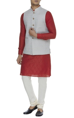 Chatenya Mittal Self printed nehru jacket