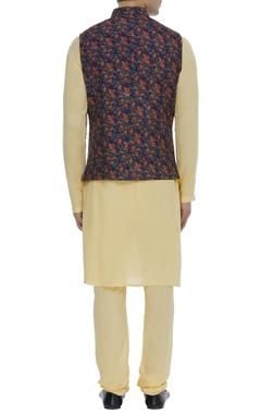 Floral print nehru jacket
