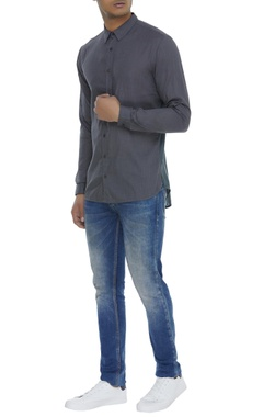 Cotton pleated shirt
