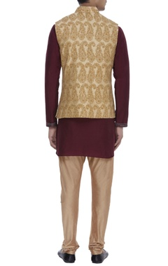 Keri buti embroidered Nehru jacket