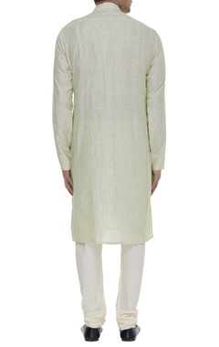 Striped linen kurta