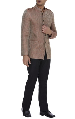 Textured brocade nehru jacket
